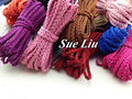 10yds 6mmx2.5mm  Flat Woven Braided  Faux Suede Velvet Leather Cord Lace NCS3W