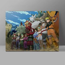 Power of Human Sacrifice And Tailed Beasts Wall Pictures Naruto Canvas Painting Japanese Ninja Anime Corridor Art