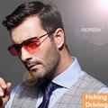 Moda hombres Aoron marca día de visión nocturna gafas de sol UV400 marco de aleación para el conductor varón pesca Goggle gafas