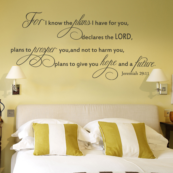 Scripture Wall Decal For I Know The Plans I Have For You JEREMIAH 29 11  Large Vinyl Quote 40.64cm X 86.36cm In Wall Stickers From Home U0026 Garden On  ...