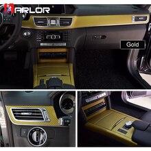 Внутренняя Центральная панель управления защитная пленка из углеродного волокна наклейка и наклейки для автомобиля Стайлинг для Mercedes W212 E класс аксессуары