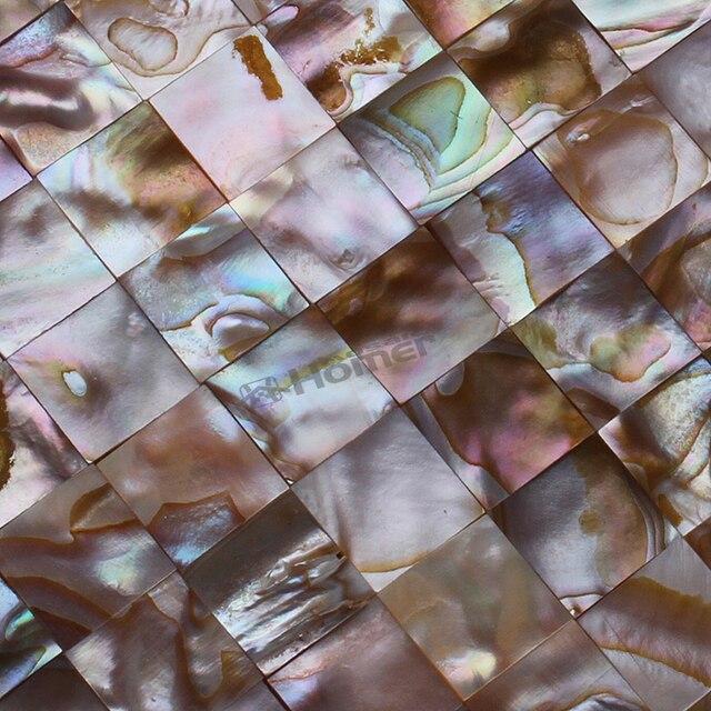 Brillante Sinfonía de color cuadrado de nácar mosaico backsplash de ...