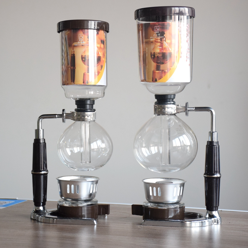 2018 New Classic Janpanese Style Stainless steel& Glass Vacuum Siphon Coffee Maker Tea Siphon pot 3Cups 5 Cups Percolator stock