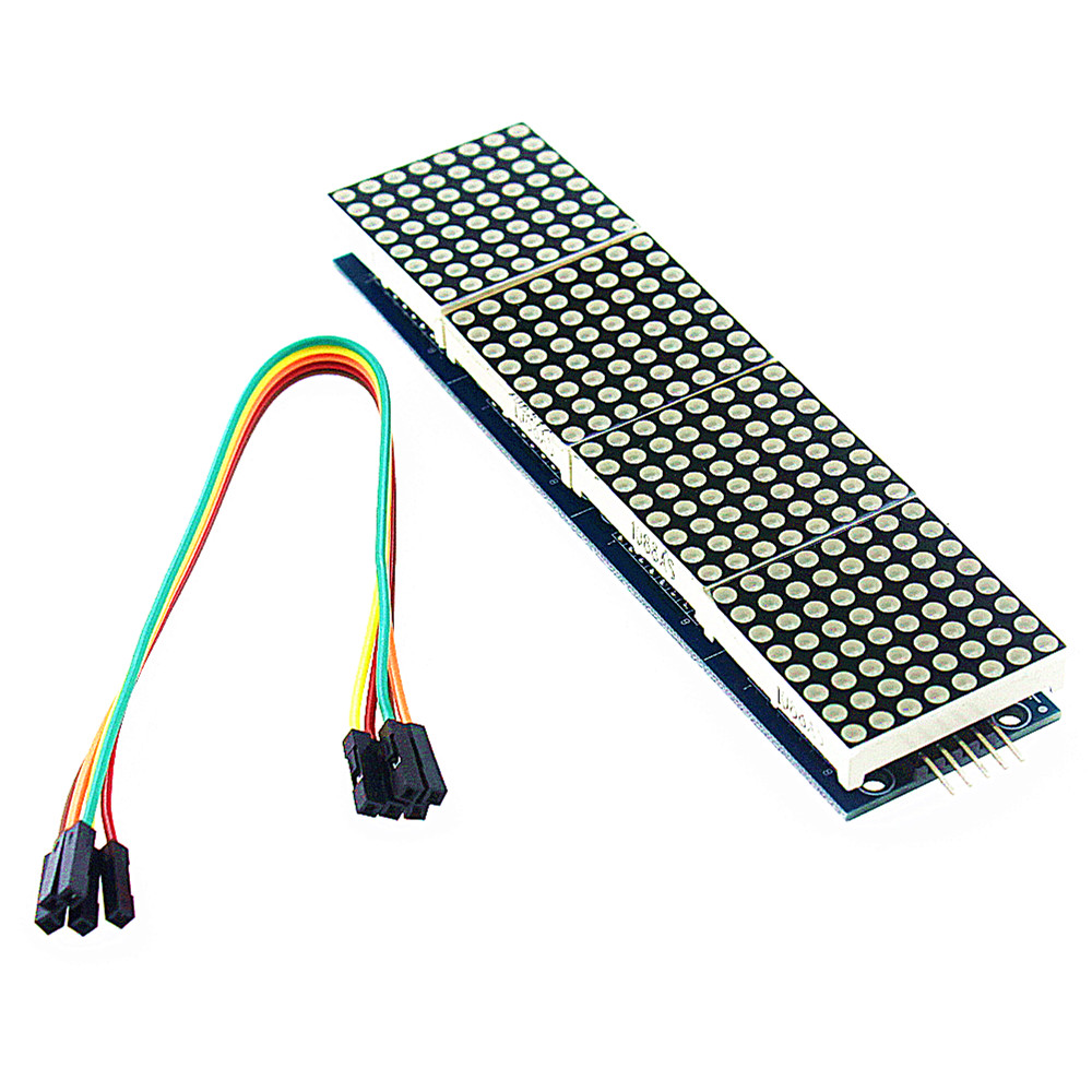 Free Shipping 10PCS/MAX7219 Dot Matrix Module For Arduino Microcontroller 4 In One Display with 5P Line