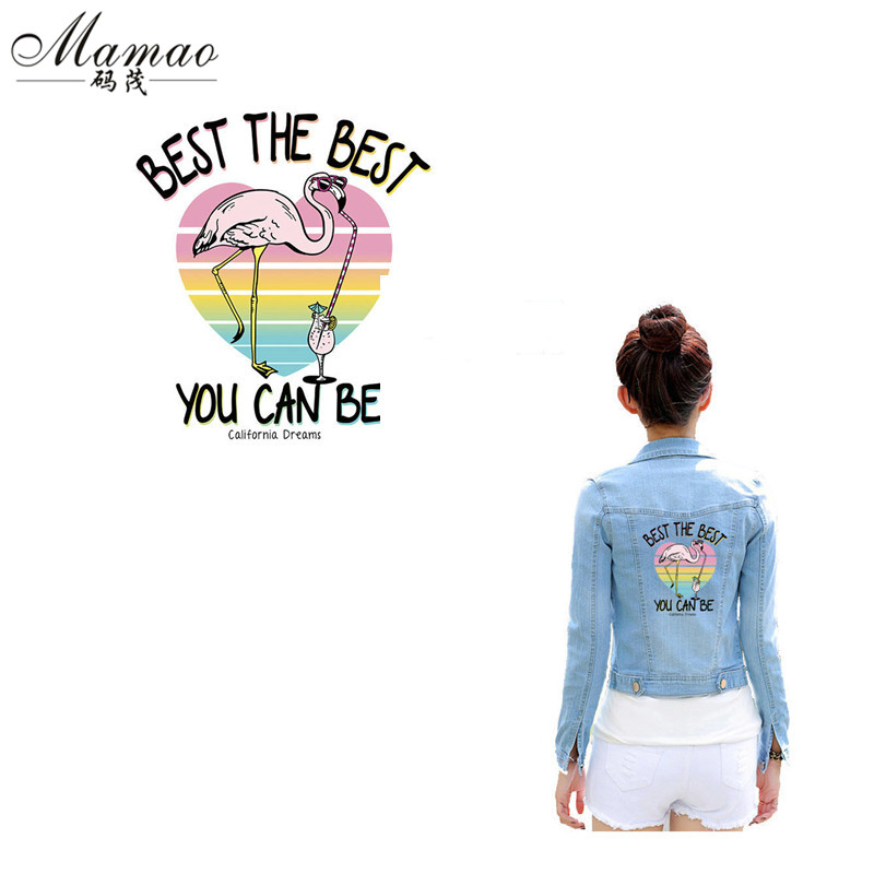 MAMAO Heart Animal pattern Letter Cool Flamingo patch patches voor - Kunsten, ambachten en naaien