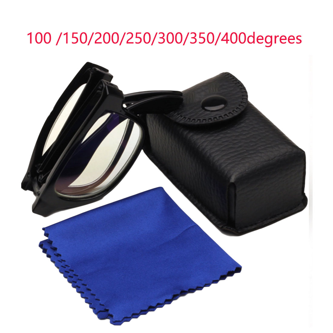 100/150/200/250/300/350/400 Degree Glasses Magnifiers Portable Collapsible Reading Glasses Ultralight Presbyopic Glasses ultra thin portable folding presbyopic glasses