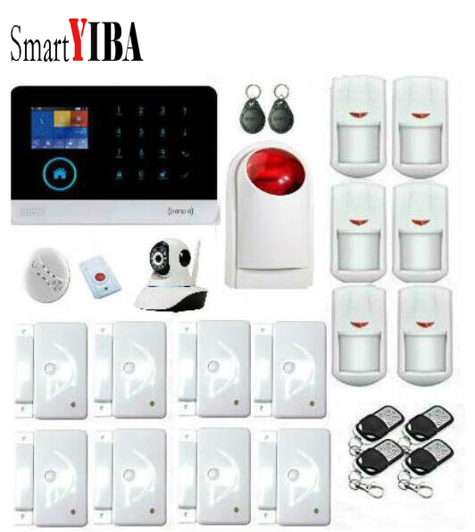 SmartYIBA Home 3G GPRS Alarm APP Remote Control DIY Kit Multi Language Security Alarm System Camera