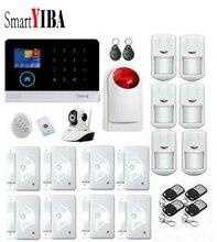SmartYIBA Home 3G GPRS Alarm APP Remote Control DIY Kit Multi Language Security Alarm System Camera Surveillance Smoke Alarm