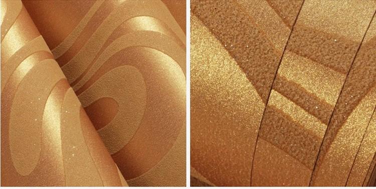 Wysokiej jakości 0.7 m * 8.4 m nowoczesny luksus 3d tapety rolki mural papel de parede uciekają na paski ściany papier 5 kolor r136 20