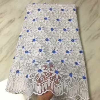2018 High Quality Beads cord African Net Swiss French Voile Guipure tulle mesh Lace Fabric For dress 5yard/lot LP31115