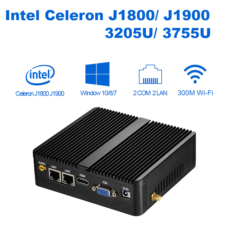 XCY Mini PC quad core J1900 8G RAM 128G SSD HTPC Fanless Nuc Intel HD Graphics Micro PC computer