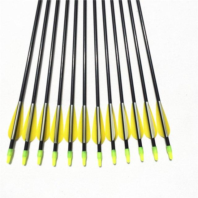 Fiberglass Arrows Length 79cm Spine 700 OD 7mm 6/12/24PCS For Hunting Shooting Outdoor 3