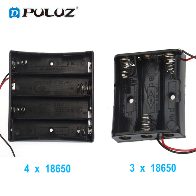 US $1 32 |Aliexpress com : Buy ABS Plastic 3x 4x 18650 Battery Holder  Storage Box Case 3/4 Slot Port Way DIY Batteries Clip Container with Wire  Lead