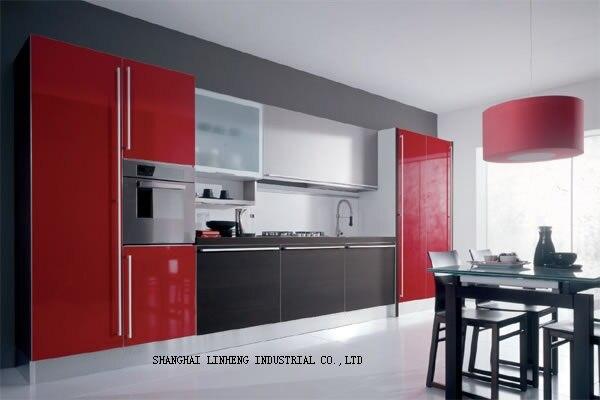 Lacquer Kitchen cabinet(LH-...