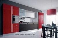 Lacquer Kitchen cabinet(LH LA003)