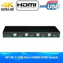 New 4096*2160@30Hz four Port USB KVM HDMI Swap 4K x 2K USB 2.zero Port HDMI KVM Switcher Supported Auto & One Key & Hotkey Swap