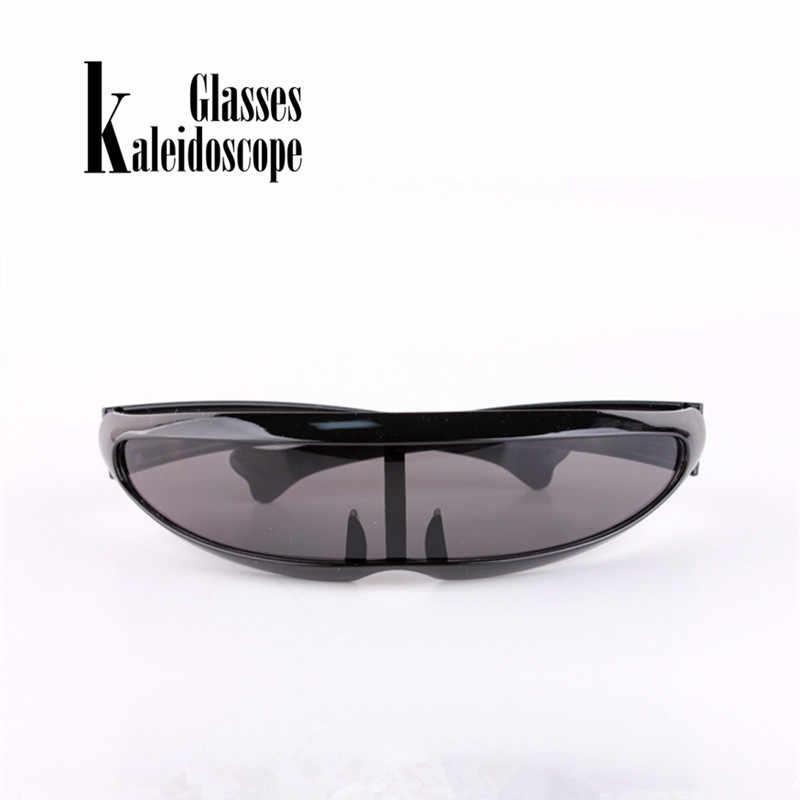 Калейдоскоп очки X-Для мужчин рыбы солнцезащитные очки в форме Для мужчин личность лазерной очки Прохладный робот солнцезащитные очки Вождение солнцезащитные очки