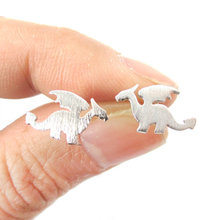 Tiny Dinosaur Shaped Stud Earrings