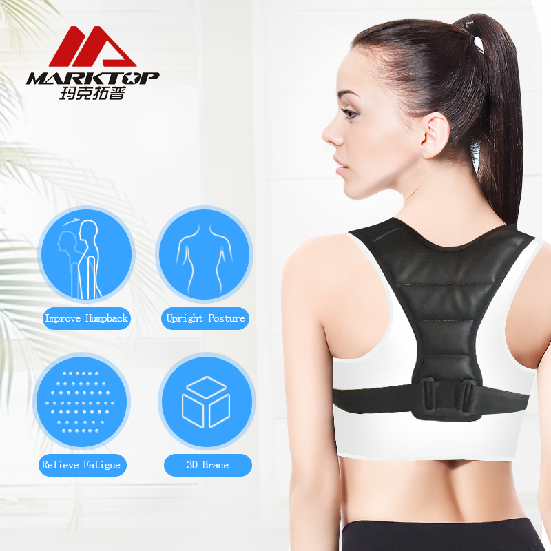 Marktop Adjustable Back Brace Posture Corrector Back Support Shoulder Belt Men/ Women Improve Sit Walk Prevent Slouching M9058