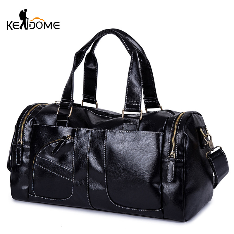 Women Fitness Gym Bags Men PU Leather Waterproof Travel Handbag Luggage Outdoor Sports Bag Lady Tote