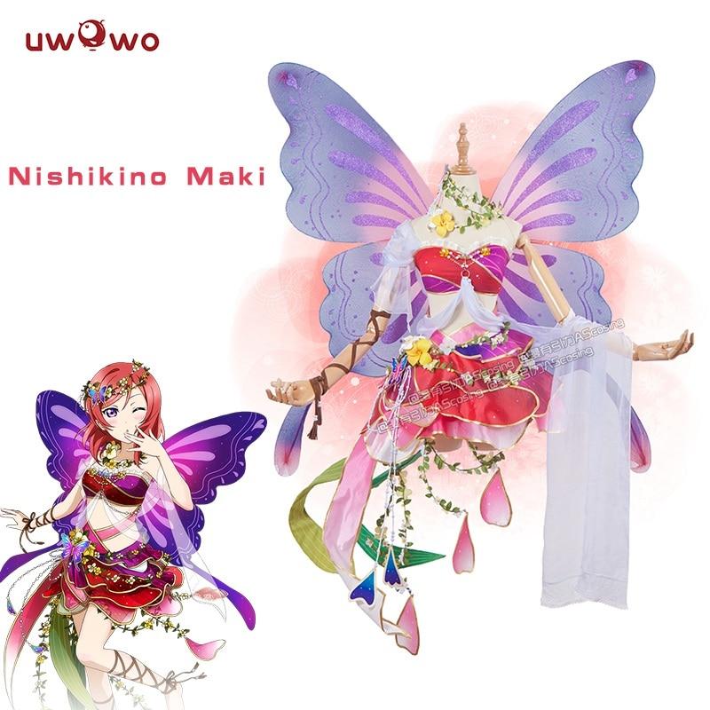 Nishikino Maki Cosplay Love Live! Lovelive School Idol Project Flower Fairies Awakening Idolized Costume Women цена