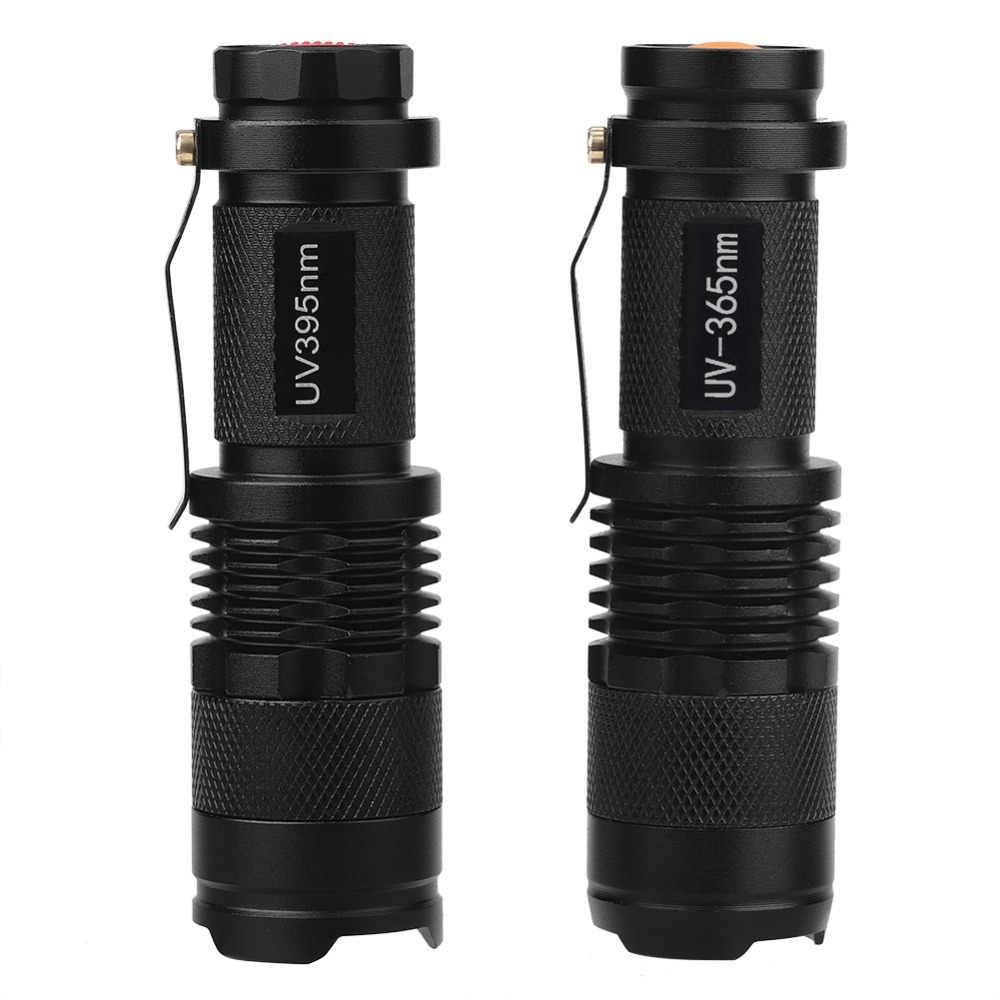 Home Ultraviolet Lights LED Flashlight Blacklight 365 nm Inspection Lamp Torch