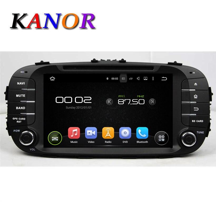 5.1.1 KANOR 1024*600 Quad Core Android Dvd-плеер Автомобиля Для KIA душа 2014 ROM 16 Г GPS Навигации Емкостный Аудио Радио WI-FI Карта