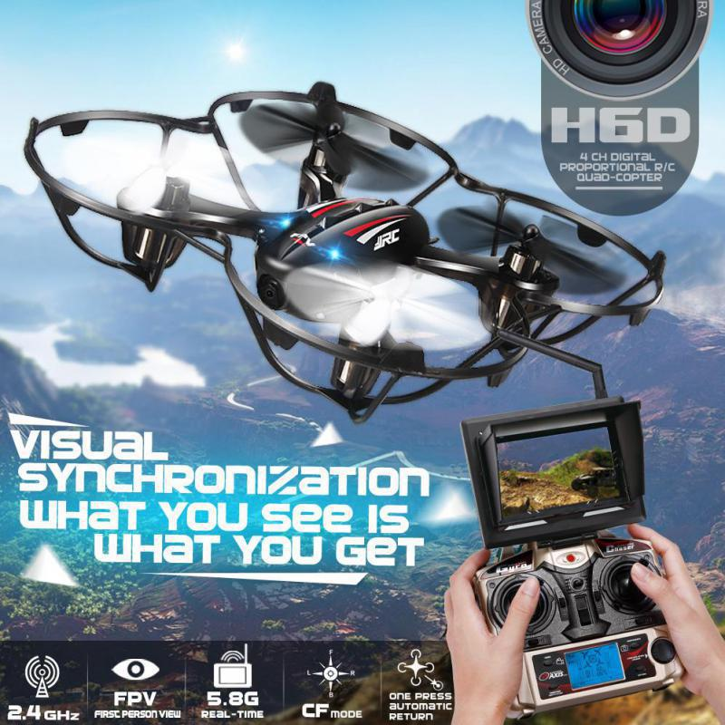 Quadcopters H6D FPV Mini font b Drones b font With Camera Hd With Camera Flying Helicopter