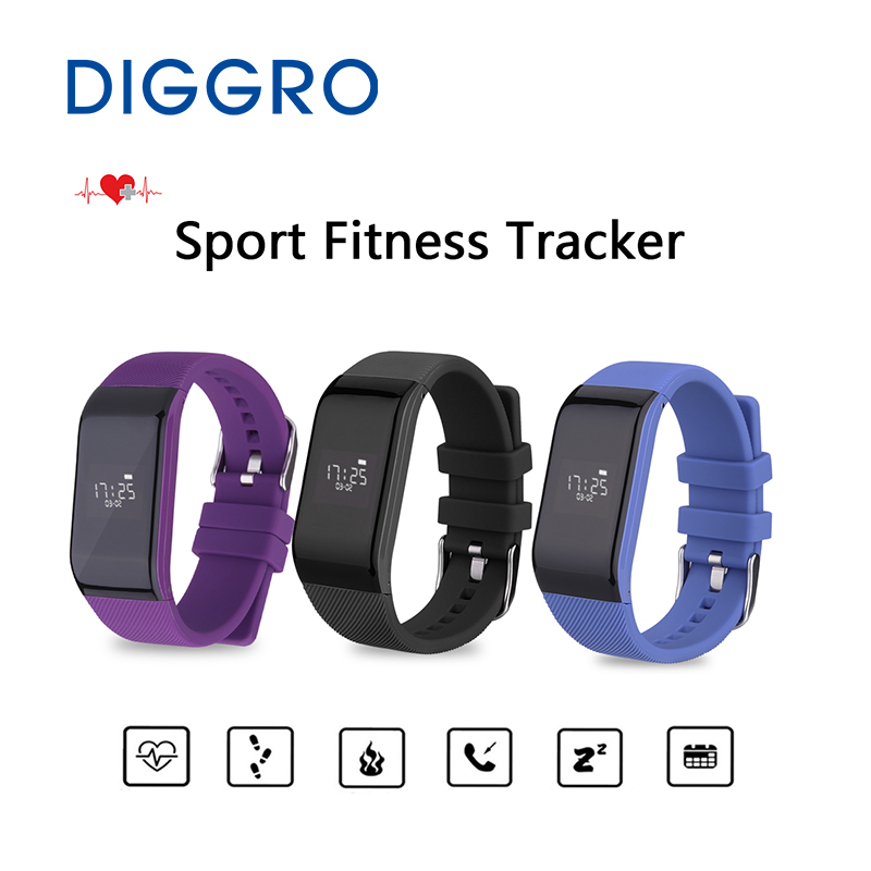 Heart Rate Training Bracelet Diggro R1 Bluetooth Smart Band Waterproof Sleep Sport Fitness Tracker Wristband For