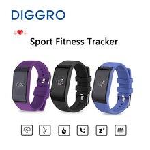 Сердечного ритма обучение браслет diggro R1 Bluetooth Smart Band Водонепроницаемый сна Sport Фитнес трекер Браслет для iOS и Android