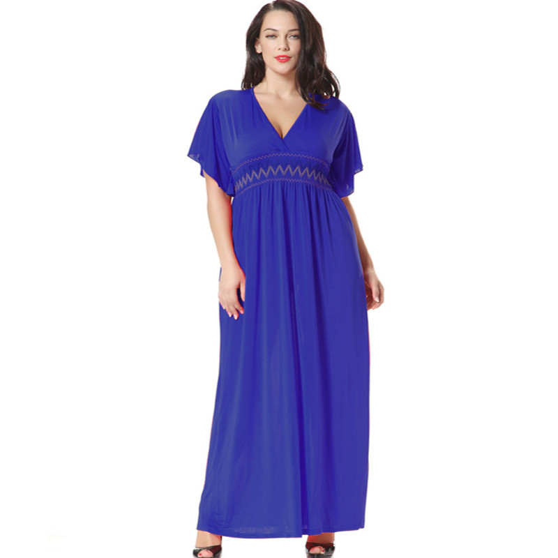 TUHAO Bohemian Butterfly Sleeve <font><b>Dress</b></font> <font><b>Plus</b></font> <font><b>Size</b></font> <font><b>6XL</b></font> <font><b>5XL</b></font> Woman Summer Beach <font><b>Women's</b></font> <font><b>Dresses</b></font> Maxi Long <font><b>Sexy</b></font> Femme <font><b>Clothing</b></font> CM185 image