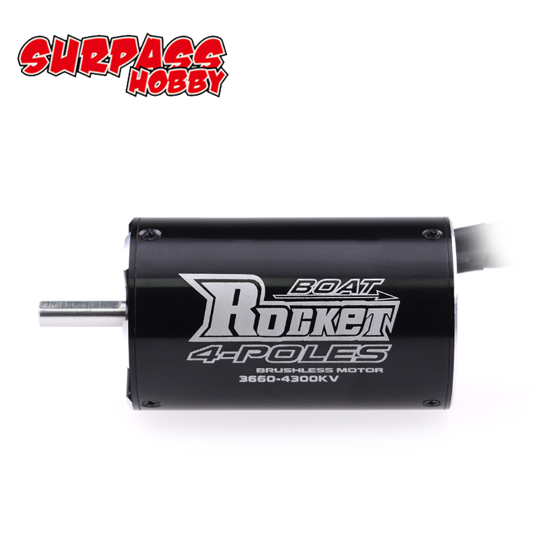 SURPASSHOBBY Rocket 3660 3250KV 2600KV 4P Brushless Motor for Traxxas M41 Catamaran Spartan 800mm 1000mm RC Boat Car-in Parts & Accessories from Toys & Hobbies