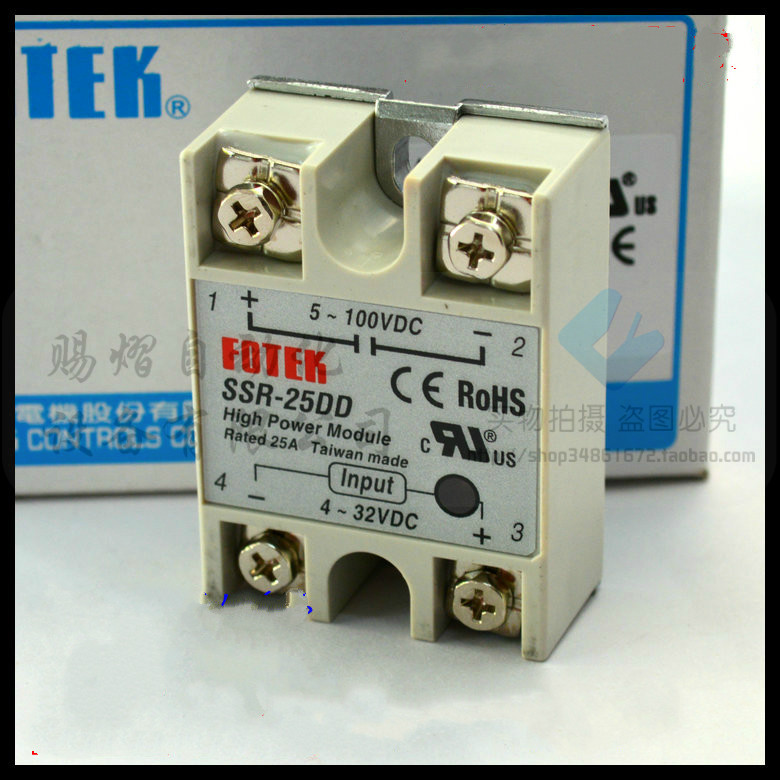 100% Original Authentic Taiwan's Yangming FOTEK solid state relay / thyristor modules SSR-25DD brand new original japan niec pd150s8 indah 150a 800v thyristor modules
