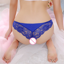 34370666ddf Sexy Women Transparent Ultra-thin Lace Low Waist Underwear Female Briefs  Panties