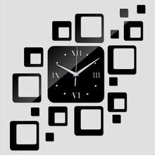 Ограничено по времени, кварцевые настенные часы, домашний декор, новое специальное предложение, зеркальные акриловые часы, современные часы с наклейкой
