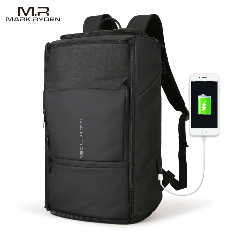 Mark Ryden New USB Recharging High Capacity Backpack 180 Degree Travel Bag Fit for 17.3 Inches Laptop New Design Bag