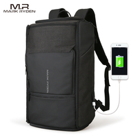 Mark Ryden New USB Recharging High Capacity Backpack 180 Degree Travel Bag Fit For 17 3
