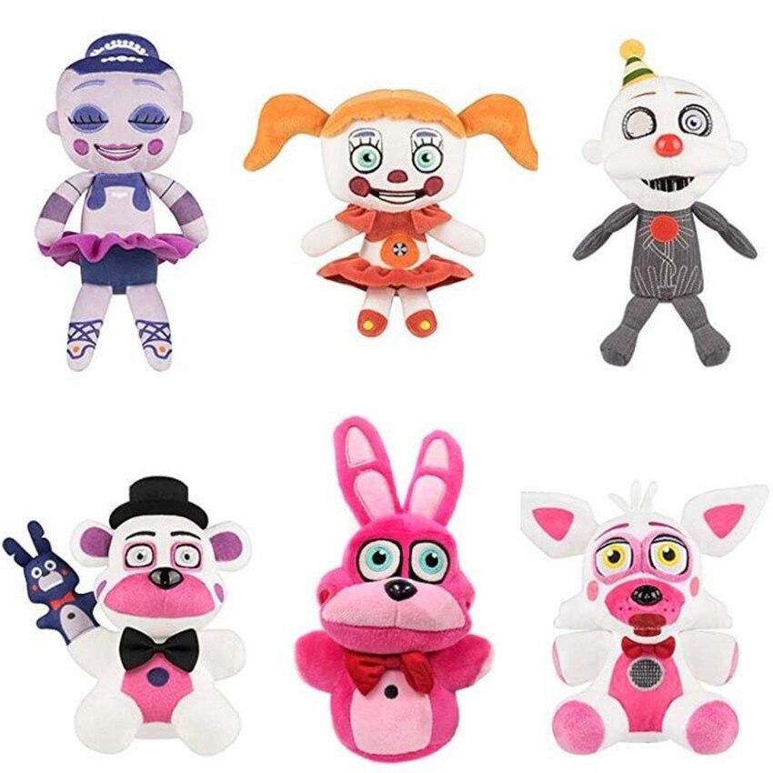 15-28cm 2018 Anime FNAF Plush Toy Five Nights At Freddys Sister Location Circus Ennard Foxy Freddy Stuffed Toys For Children