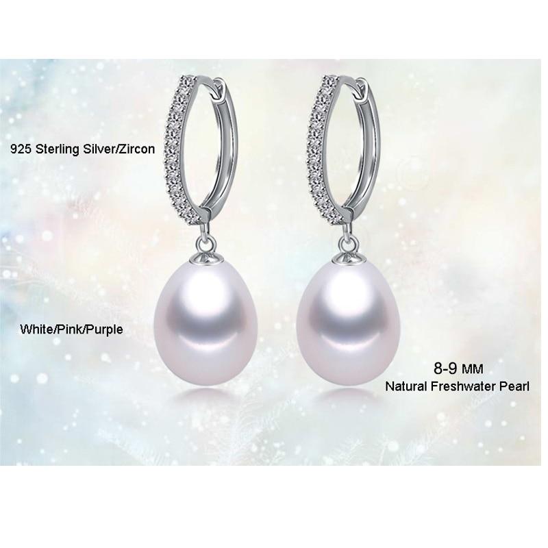 Ofis qadınları üçün YIKALAISI 925 Sterling Gümüşü Təbii - Moda zərgərlik - Fotoqrafiya 6