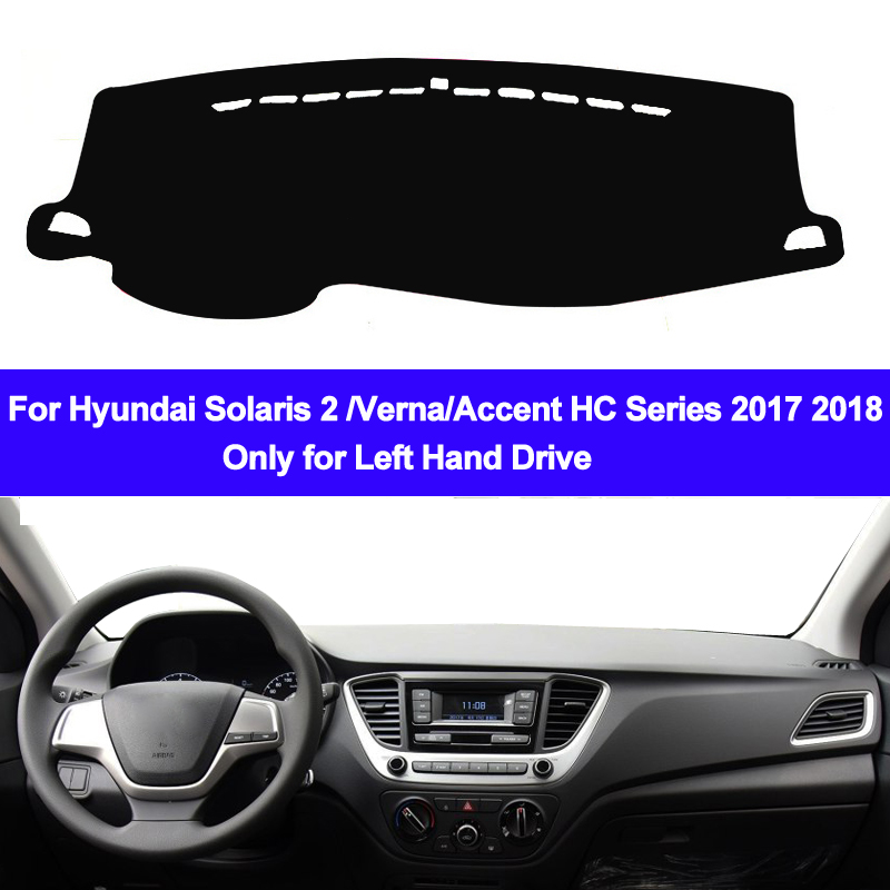 Car Inner Dashmat Dash Mat Dashboard Cover Pad Sun Shade Dash Board Cover Carpet For Hyundai Solaris 2 Accent Verna 2017 2018