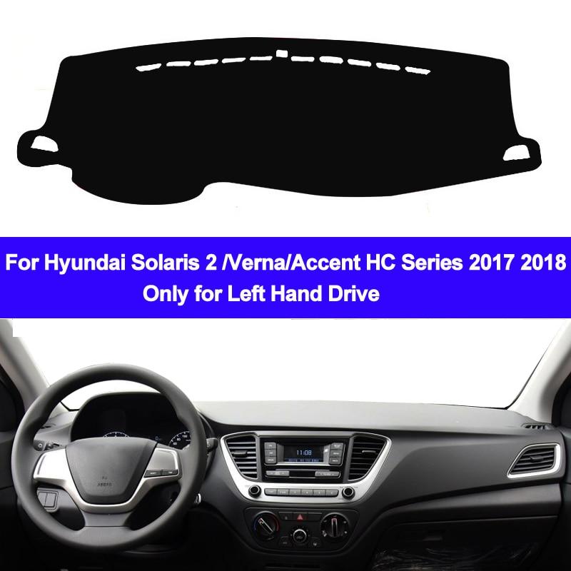 Car Inner Dashmat Dash Mat Dashboard Cover Pad Sun Shade Dash Board Cover Carpet For Hyundai Solaris 2 Accent Verna 2017 2018