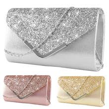 Clutch Bag Female Satin Diamante Handbag Vintage Chain Evening Clutch Wallet Party Envelope Phone Bag Bolsos studded trim envelope clutch