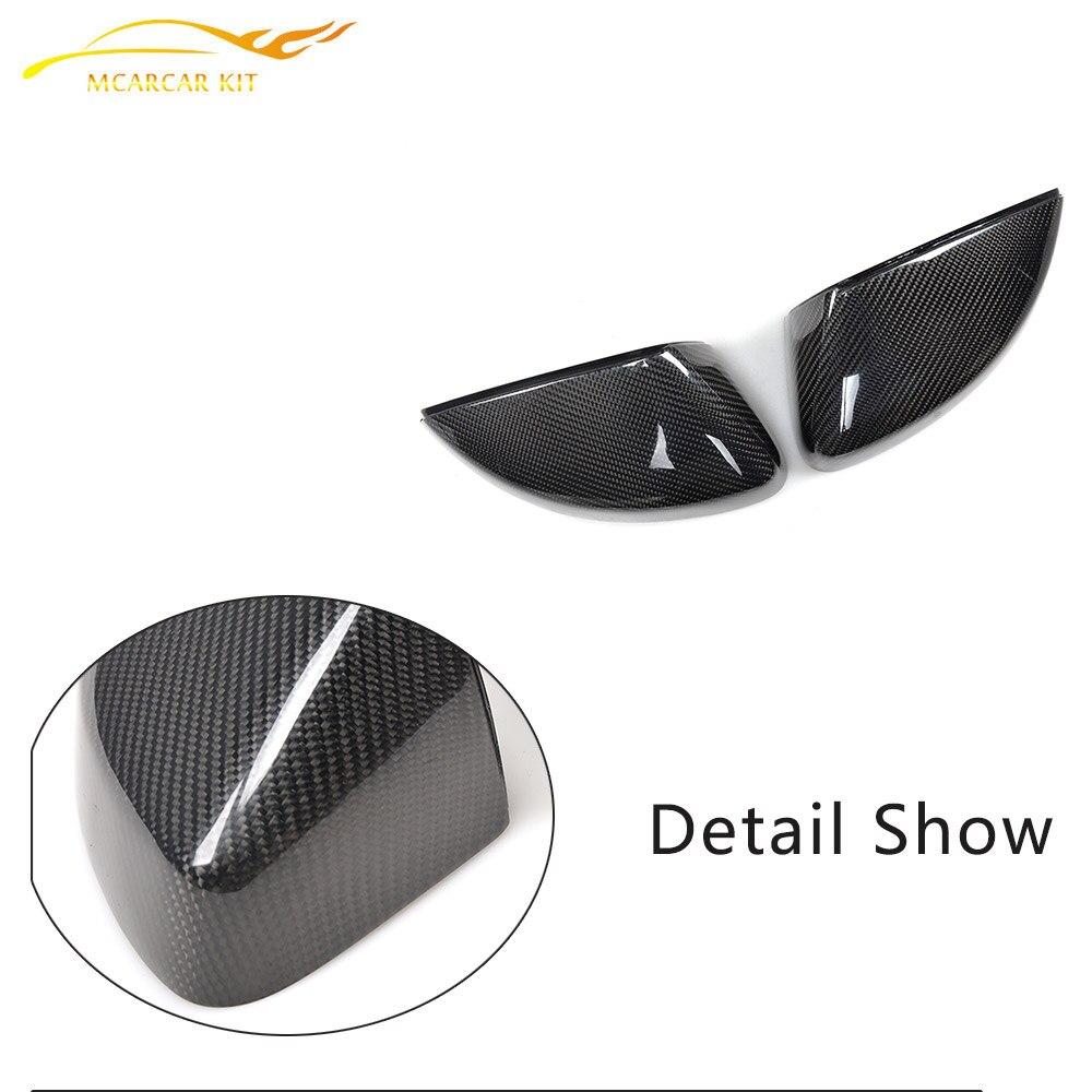 탄소 섬유 교체 스타일 백미러 커버 아우디 A3 S3 RS3 - 자동차부품 - 사진 5