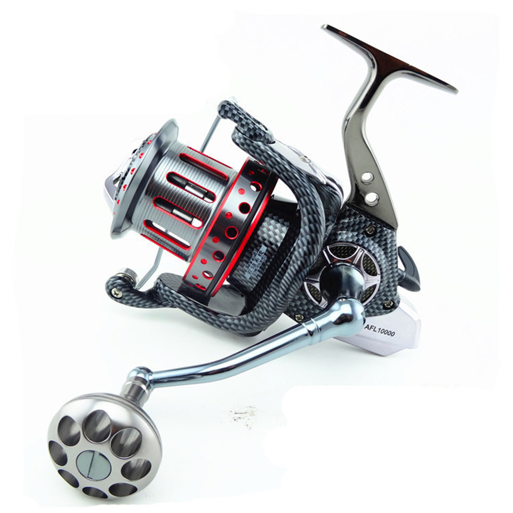 цены Fishing Reel Spinning Pre-Loading Spinning Wheel 8000 - 12000 Series 10+1 BB Metal Handle Two - axis system Fish Wheel Fake Bait
