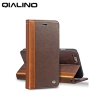For IPhone 6 6s 6plus Business Flip Leather Case Top Layer Cowhide Genuine Cases Cover For