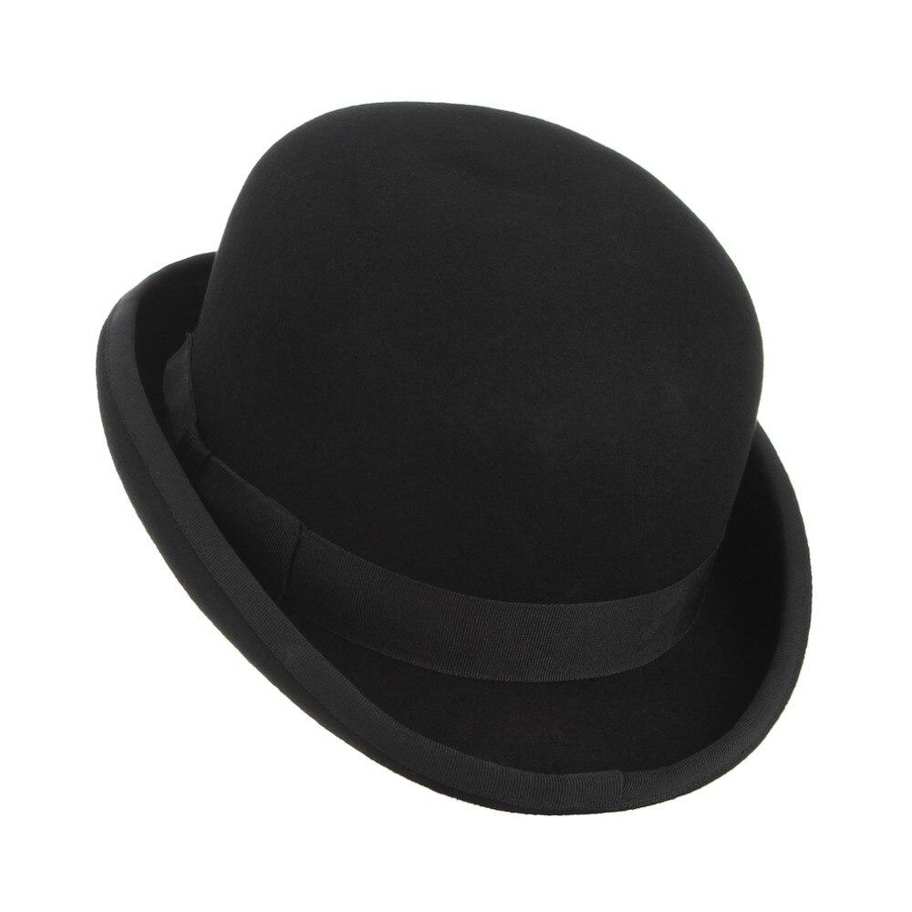 Image 5 - GEMVIE 4 размера 100% Шерсть Войлок черный Дерби котелок шляпа для мужчин женщин атласная Подкладка модные вечерние Формальные Fedora Костюм Шляпа Волшебника-in Мужские фетровых from Аксессуары для одежды on AliExpress - 11.11_Double 11_Singles' Day