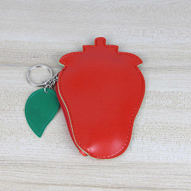 Katuner Hot Bonito bolsa de Moedas de Frutas Abacaxi Limão Mulheres Bolsa Mini Carteira de Couro PU Meninas Bolsa Com Zíper Titular Do Cartão de Meninas KB037