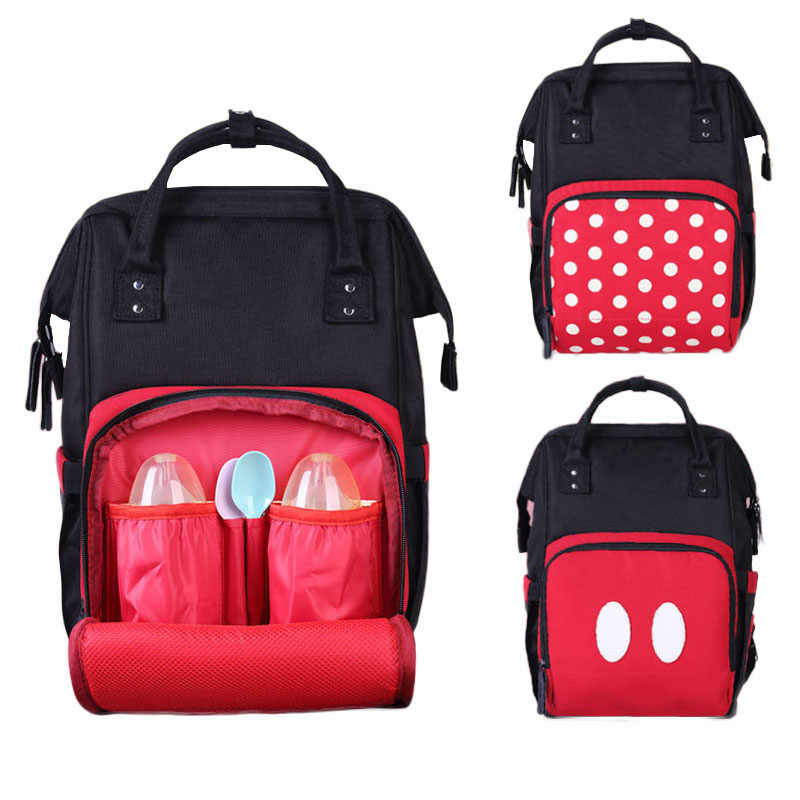 2 шт./компл. Микки Маус Мумия сумка для подгузников многофункциональные детские товары для хранения дорожная Портативная сумка рюкзак для ухода за ребенком