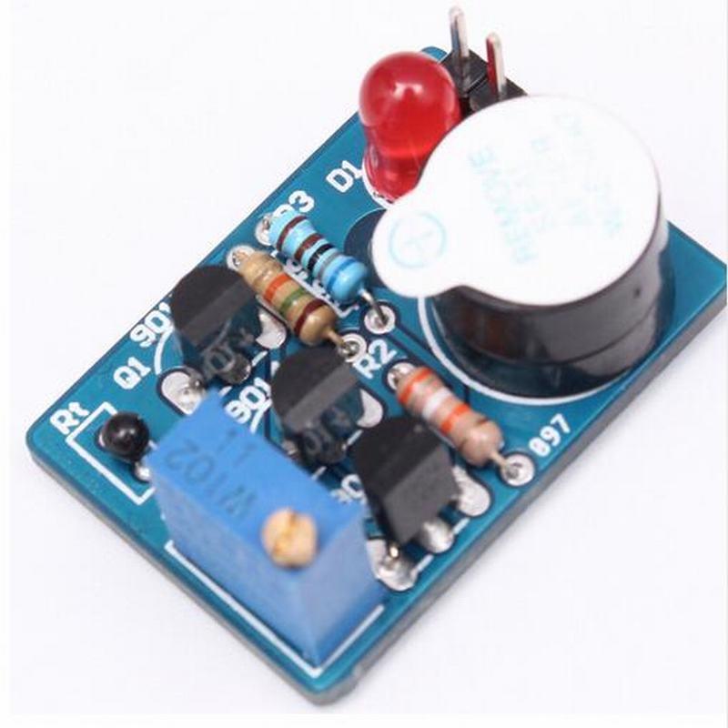 Electronic Temperature Control DIY Kit Sound Light Alarm Suite DC 3~5V Kit diy kit metal detector kit electronic kit dc 3v 5v 60mm non contact sensor board module electronic part metal detector diy