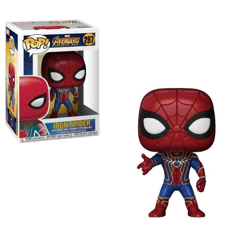 Funko POP Maravilha Avengers3: Infinito Guerra Recolhidos do Homem-Aranha PVC Action Figure brinquedos para presente de Crianças